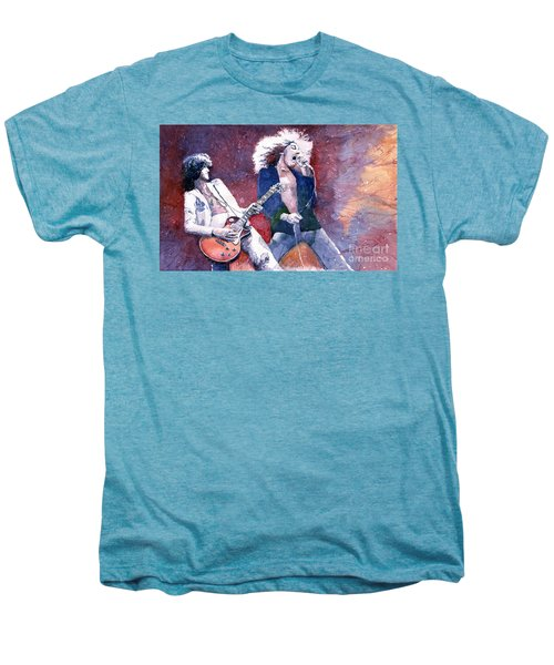 Led Zeppelin Jimmi Page And Robert Plant  Men's Premium T-Shirt