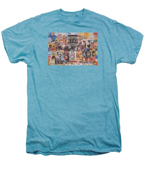 Led Zeppelin Years Collage Men's Premium T-Shirt by Donna Wilson
