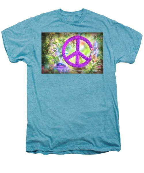 Let There Be Peace On Earth Men's Premium T-Shirt by Peggy Hughes