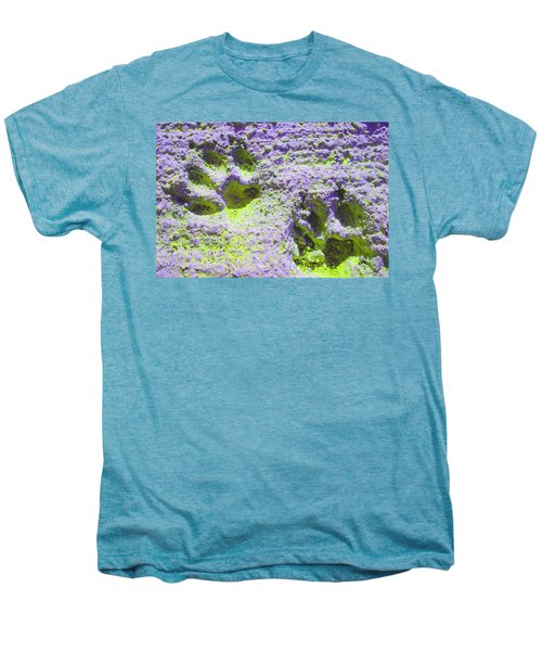 Lilac And Green Pawprints Men's Premium T-Shirt