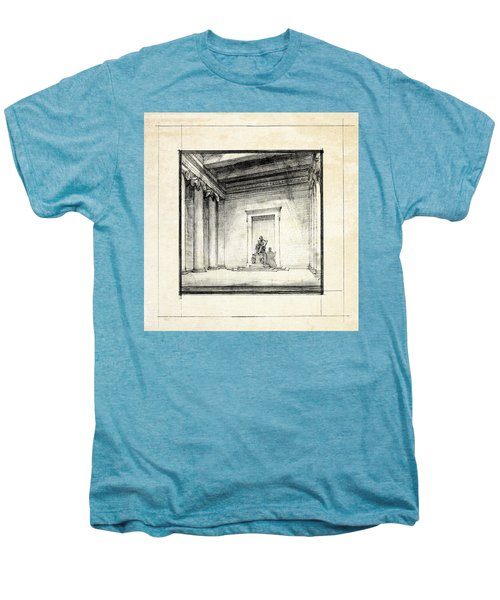 Lincoln Memorial Sketch IIi Men's Premium T-Shirt
