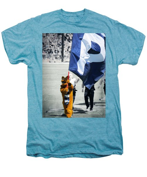 Lion Leading The Team Men's Premium T-Shirt