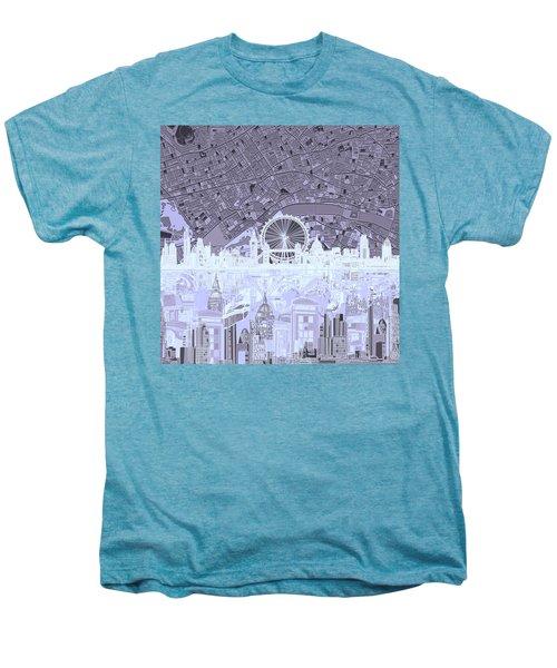 London Skyline Abstract 10 Men's Premium T-Shirt