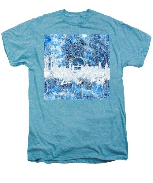 London Skyline Abstract 13 Men's Premium T-Shirt