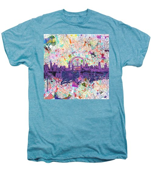 London Skyline Abstract Men's Premium T-Shirt