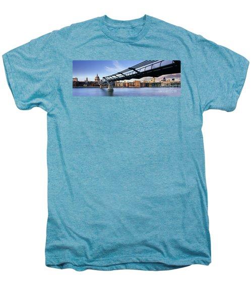Millennium Bridge London 1 Men's Premium T-Shirt by Rod McLean