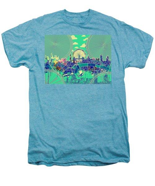 London Skyline Vintage 2 Men's Premium T-Shirt