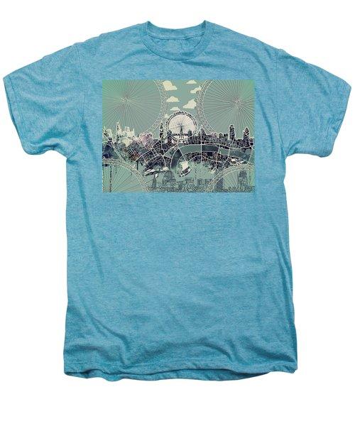 London Skyline Vintage Men's Premium T-Shirt