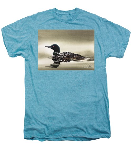 Loon In Still Waters Men's Premium T-Shirt by James Williamson