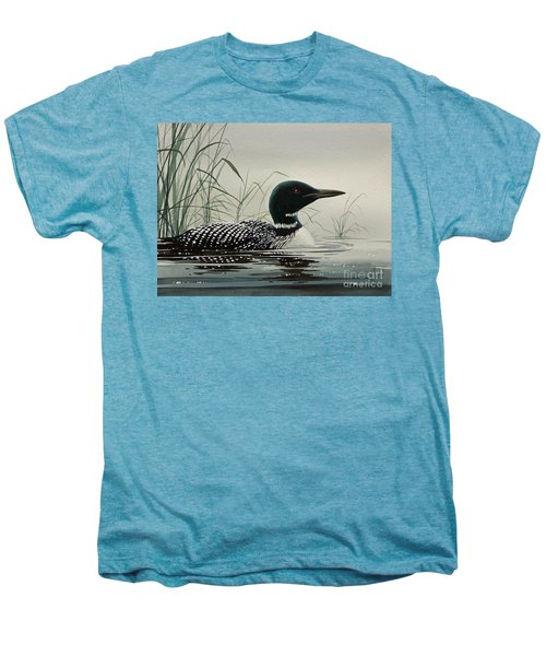 Loon Near The Shore Men's Premium T-Shirt