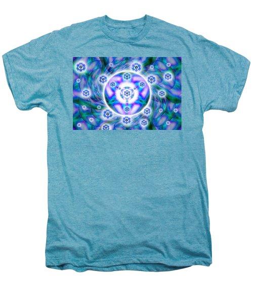 Magnetic Fluid Harmony Men's Premium T-Shirt by Derek Gedney