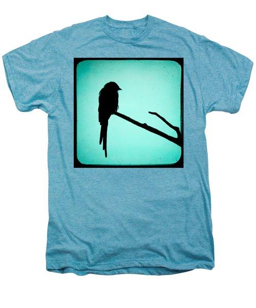 Magpie Shrike Silhouette Men's Premium T-Shirt