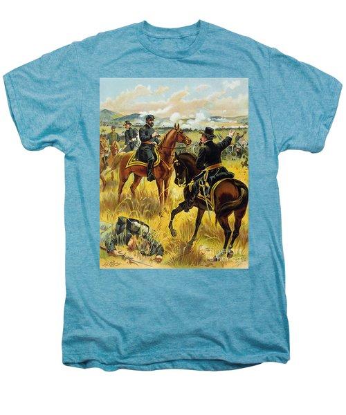 Major General George Meade At The Battle Of Gettysburg Men's Premium T-Shirt by Henry Alexander Ogden