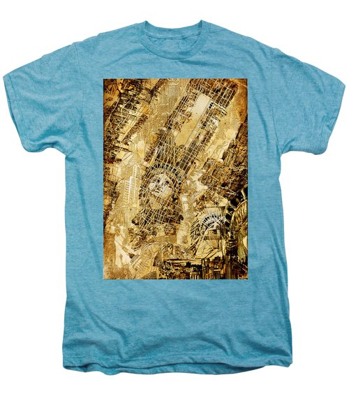 Manhattan Map Antique Men's Premium T-Shirt