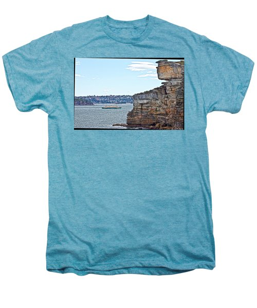 Men's Premium T-Shirt featuring the photograph Manly Ferry Passing By  by Miroslava Jurcik