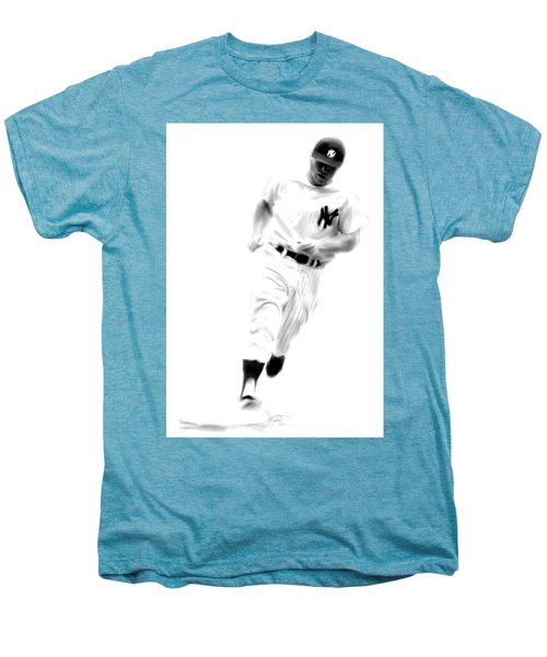 Mantles Gate  Mickey Mantle Men's Premium T-Shirt by Iconic Images Art Gallery David Pucciarelli