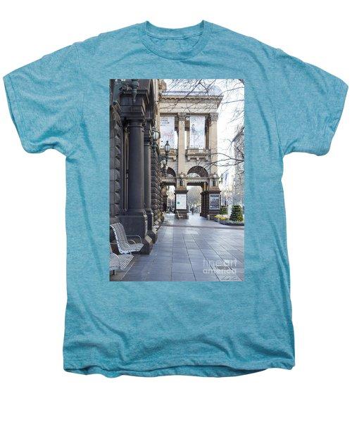 Marvellous Melbourne 3 Men's Premium T-Shirt by Linda Lees
