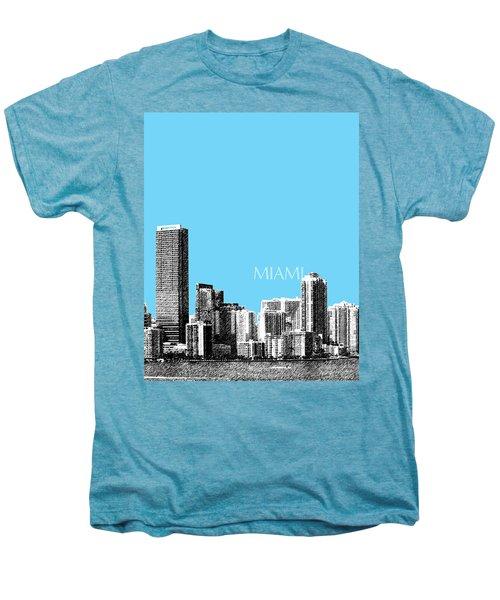 Miami Skyline - Sky Blue Men's Premium T-Shirt