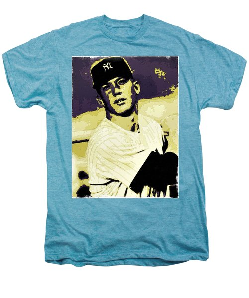 Mickey Mantle Poster Art Men's Premium T-Shirt