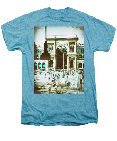 Men's Premium T-Shirt featuring the photograph Milan Gallery by Silvia Ganora
