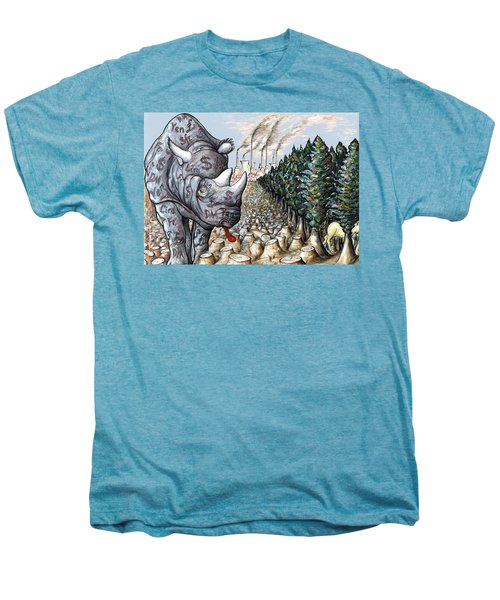 Money Against Nature - Cartoon Art Men's Premium T-Shirt by Art America Online Gallery