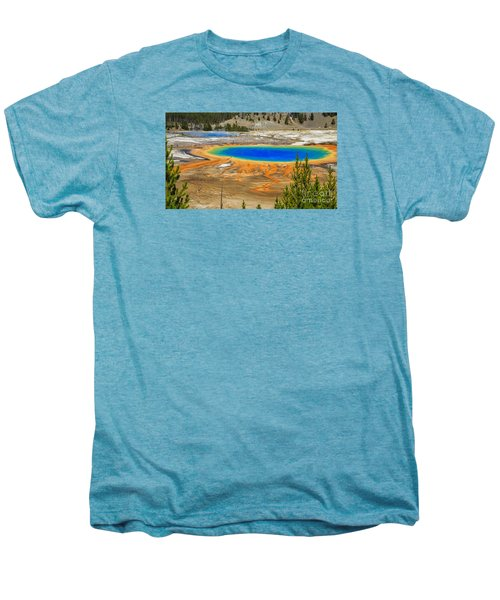 Grand Prismatic Geyser Yellowstone National Park Men's Premium T-Shirt