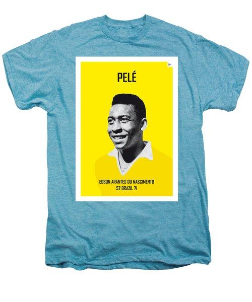 My Pele Soccer Legend Poster Men's Premium T-Shirt by Chungkong Art