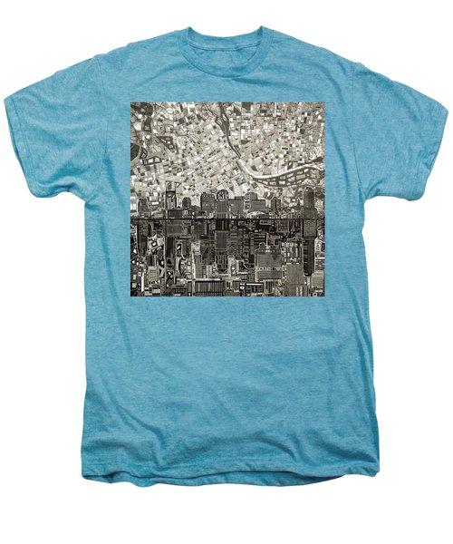 Nashville Skyline Abstract 5 Men's Premium T-Shirt