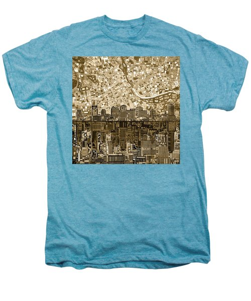 Nashville Skyline Abstract 6 Men's Premium T-Shirt