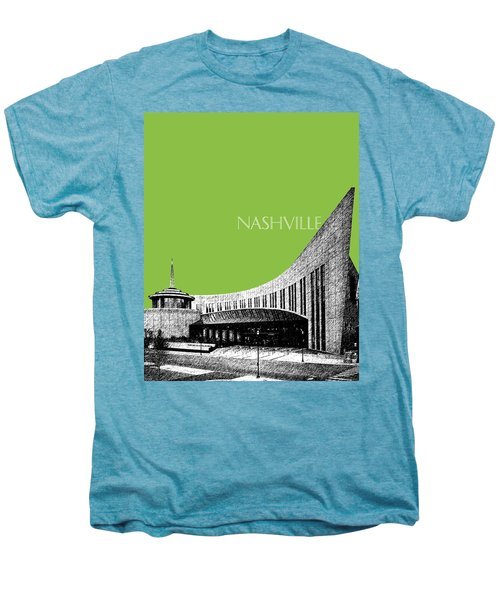 Nashville Skyline Country Music Hall Of Fame - Olive Men's Premium T-Shirt