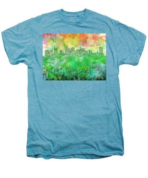 Nashville Skyline Watercolor 2 Men's Premium T-Shirt