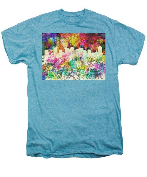 Nashville Skyline Watercolor 7 Men's Premium T-Shirt
