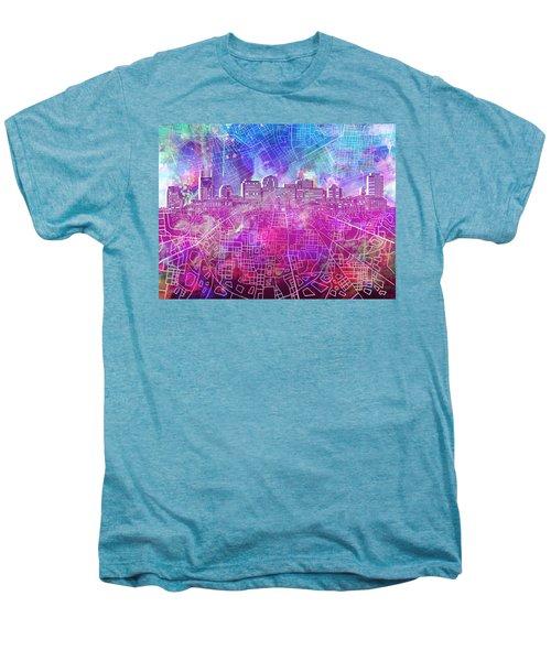 Nashville Skyline Watercolor Men's Premium T-Shirt