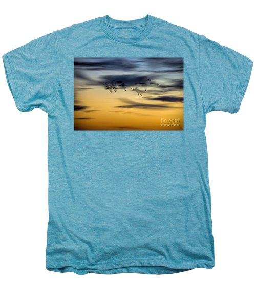 Natural Abstract Art Men's Premium T-Shirt by Peggy Hughes