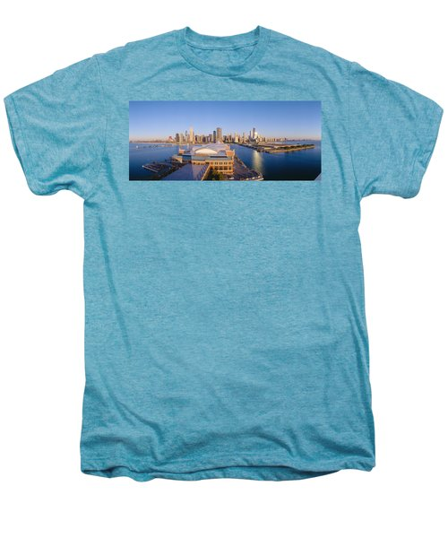 Navy Pier, Chicago, Morning, Illinois Men's Premium T-Shirt by Panoramic Images