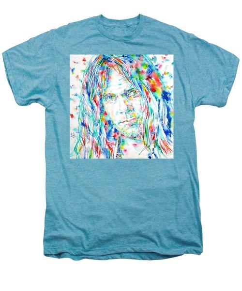 Neil Young - Watercolor Portrait Men's Premium T-Shirt