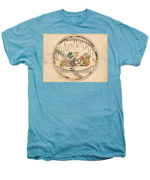 New York Mets Poster Vintage Men's Premium T-Shirt