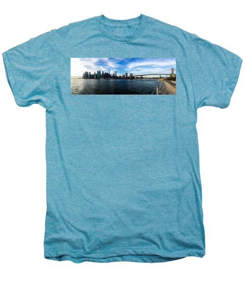 New York Skyline - Color Men's Premium T-Shirt by Nicklas Gustafsson