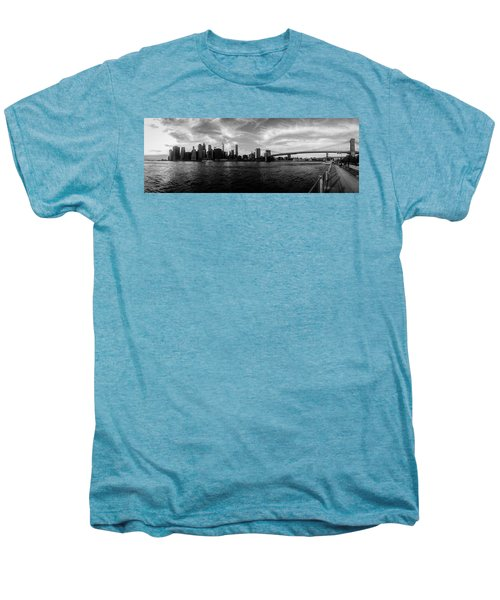 New York Skyline Men's Premium T-Shirt by Nicklas Gustafsson