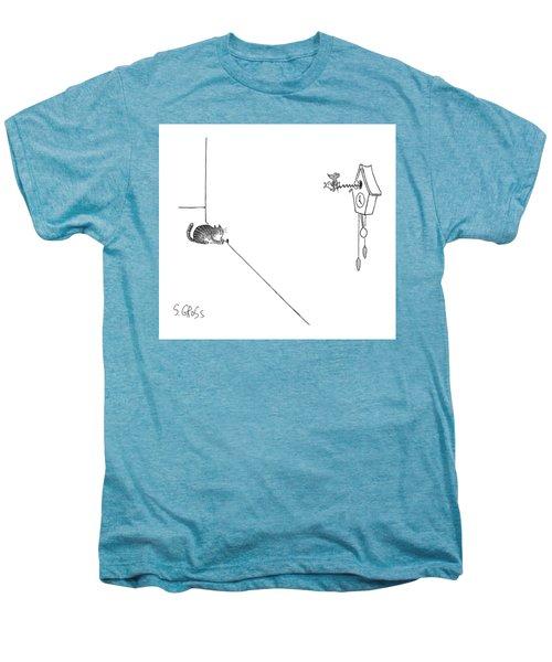 New Yorker October 19th, 1998 Men's Premium T-Shirt by Sam Gross