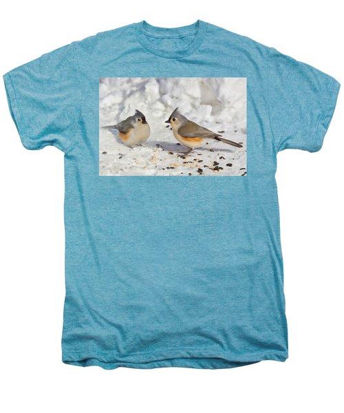 Nice Pair Of Titmice Men's Premium T-Shirt