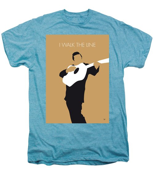 No010 My Johnny Cash Minimal Music Poster Men's Premium T-Shirt by Chungkong Art