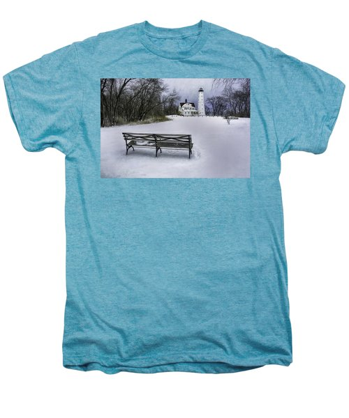 North Point Lighthouse And Bench Men's Premium T-Shirt by Scott Norris