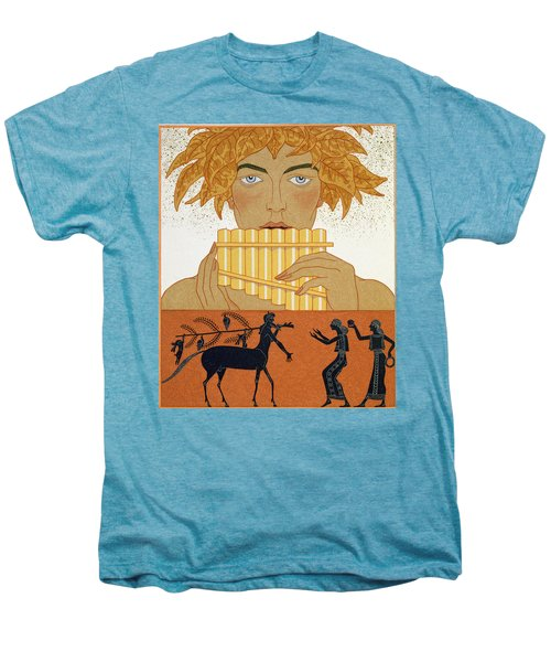 Pan Piper Men's Premium T-Shirt by Georges Barbier