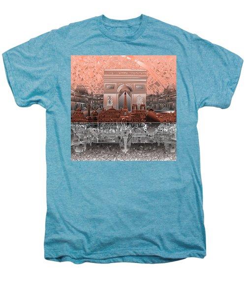 Paris Skyline Landmarks 2 Men's Premium T-Shirt