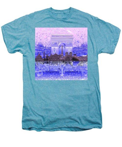 Paris Skyline Landmarks 7 Men's Premium T-Shirt