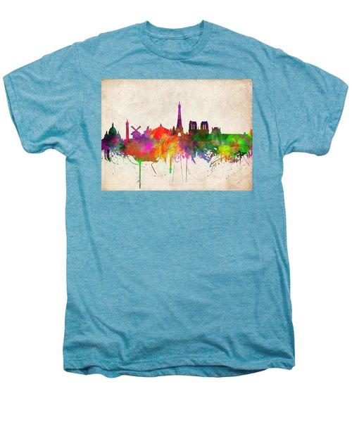 Paris Skyline Watercolor  Men's Premium T-Shirt
