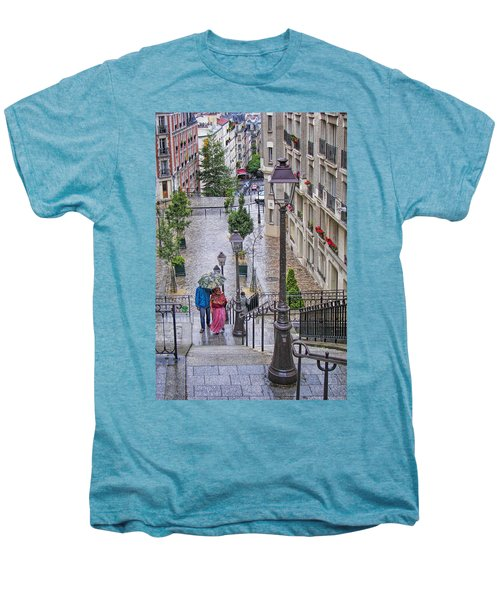 Paris Sous La Pluie Men's Premium T-Shirt by Nikolyn McDonald