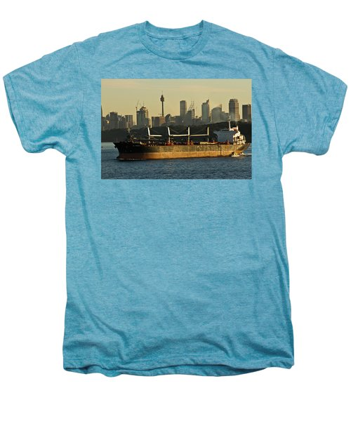 Men's Premium T-Shirt featuring the photograph Passing Sydney In The Sunset by Miroslava Jurcik