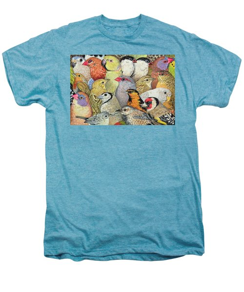 Patchwork Birds Men's Premium T-Shirt